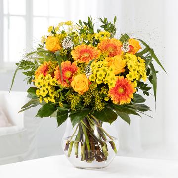 Saisonales Blumenwunder in Gelb & Orange