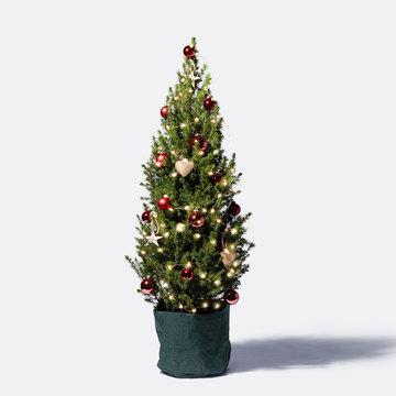 Weihnachtsabend Weihnachtsbaum mit Schmuck