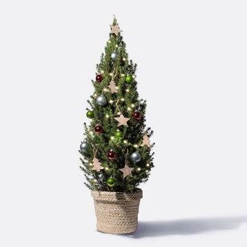 Prachtvoll Weihnachtsbaum mit Schmuck