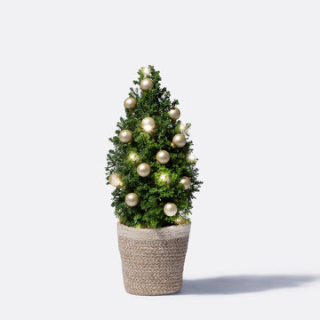 Wintertraum Weihnachtsbaum mit Schmuck