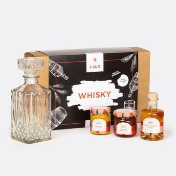 Geschenkset Whiskey mit hochwertiger Karaffe & Whiskey Spezialitäten