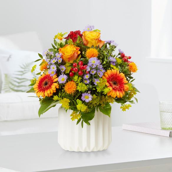 Blumenstrauß Celebration in Rot, Gelb, Orange, Blau und Lila