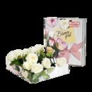 Rosenbrief mit weißen Rosen