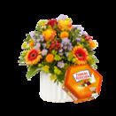 Blumenstrauß Celebration mit Ferrero Küsschen