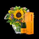 """Blumenstrauß """"Geburtstagskind"""" mit Champagner Veuve Clicquot"""
