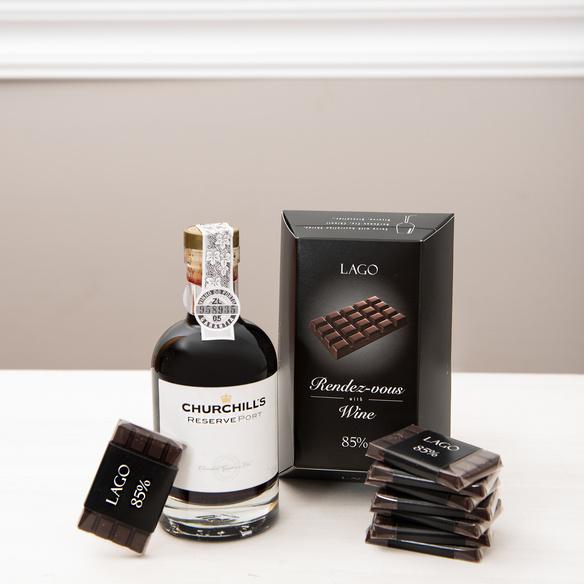 Geschenkset Churchill's Portwein & Schokolade