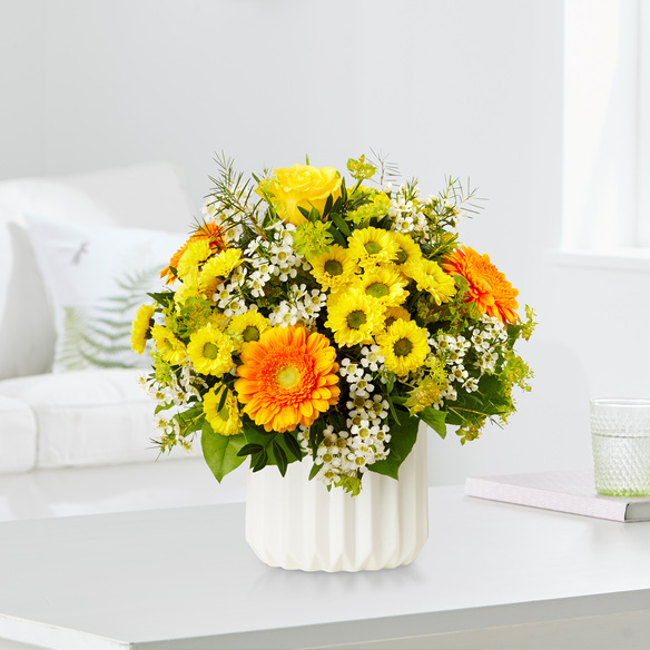 Blumenstrauß  Geburtstagsüberraschung