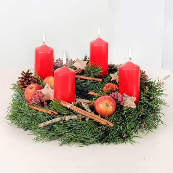 adventskranz weihnachtsfreude. Black Bedroom Furniture Sets. Home Design Ideas