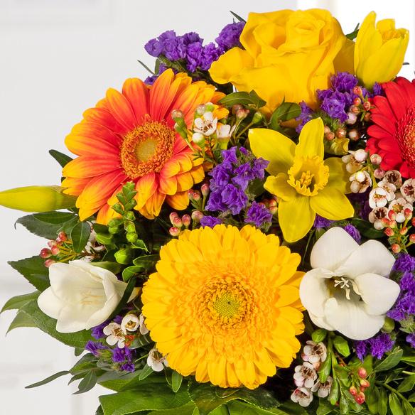Blumenstrauß gelb violett