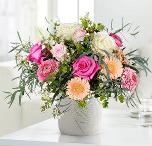 Blumenstrauß Blumenwunder in Rosa, Pink, Creme und Apricot