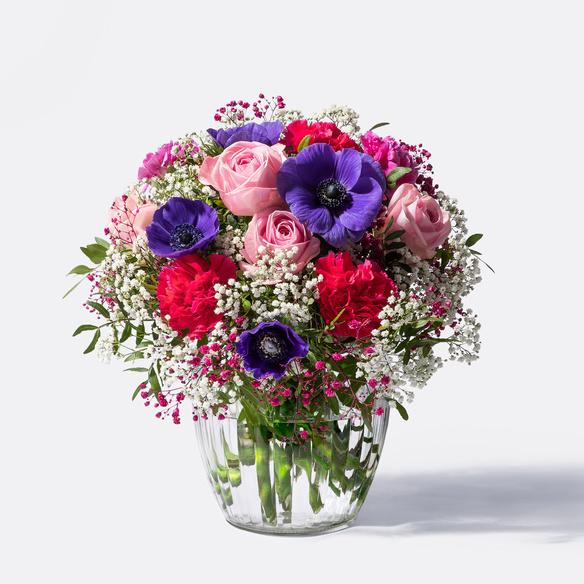 Blumenstrauß Farbenfreude in Blau, Rosa, Pink und Lila