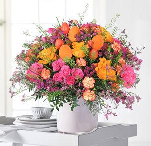 Blumenstrauß Leuchtende Überraschung in Orange und Pink