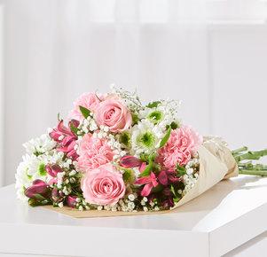 Wiesenstrauß Blumenglück Größe M in Rosa und Pink