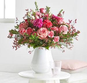 Blumenstrauß Herzenswünsche in Rosa, Pink und Lila