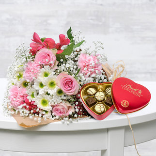 Blumenglück mit Lindt Von Herzen