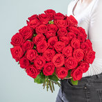 Rosenstrauß  Premium-Rosen in Rot 40 Stiele