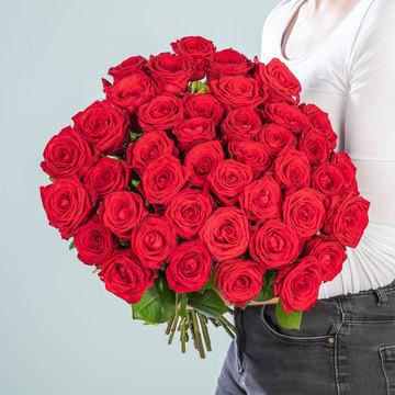 Premium-Rosen in Rot 40 Stiele