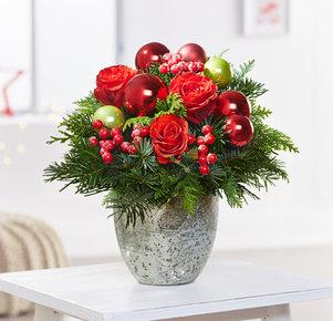 Blumenstrauß Schönste Freude in Rot und Grün