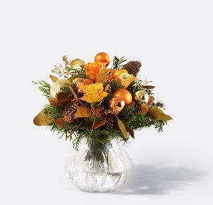 Blumenstrauß Glanzvolle Momente in Orange, Gold, Kupfer und Grün