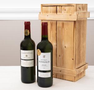 Rotweinpräsent in hochwertiger Holzkiste