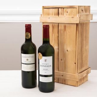 Frankreich Rotwein in hochwertiger Holzkiste