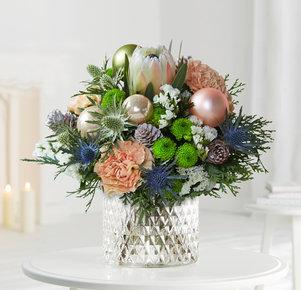 Blumenstrauß Spirit of Nature in Blau, Rosa, Creme, Apricot und Grün