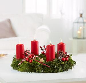 Adventskranz Süße Weihnacht in Rot
