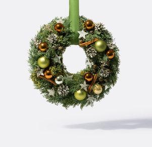 Türkranz Nature Christmas in Kupfer, Grün und Braun