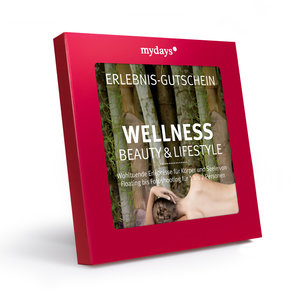 "MyDays Gutschein-Box ""Wellness"" Beauty & Lifestyle in rot"