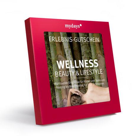 """MyDays Gutschein-Box """"Wellness"""" Beauty & Lifestyle in rot"""