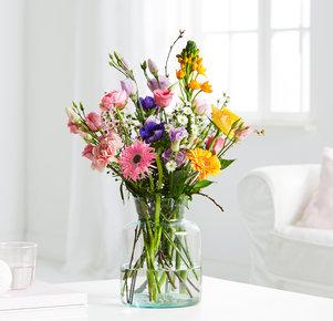 Wiesenstrauß Blooming Heaven Größe M in Weiss, Orange, Blau, Rosa, Pink und Lila