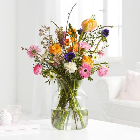 Blumenstrauß Blooming Heaven Größe L in Weiss, Orange, Blau, Rosa, Pink und Lila