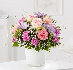 Blumenstrauß Blumenkuss in Weiss, Rosa, Pink und Lila