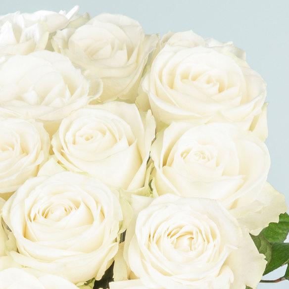 Rosenstrauß  Rosen in Weiß 20 Stiele
