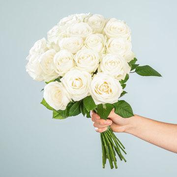 Rosen in Weiß 20 Stiele