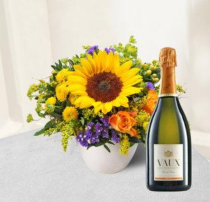 Geburtstagskind mit Sekt VAUX Cuvée