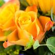 Blumenstrauß  Sonnengruß mit Sekt Vaux Cuvée