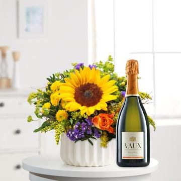 Sonnengruß mit Sekt Vaux Cuvée