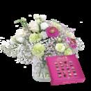 "Blumenstrauß ""Geburtstagszauber"" mit Lindt Mini Pralinés"