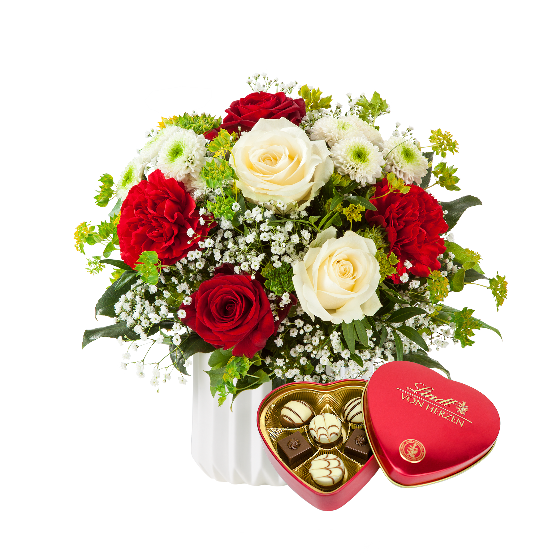 #Blumenstrauß Only for You mit Lindt Herz#