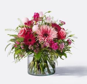 Blumenstrauß Ostererwachen in Rosa, Pink und Lila