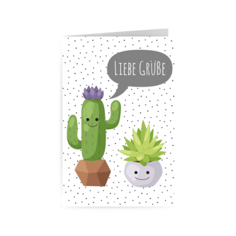 Sukkulente & Kaktus - Liebe Grüße